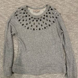 LOFT Jeweled Sweatshirt